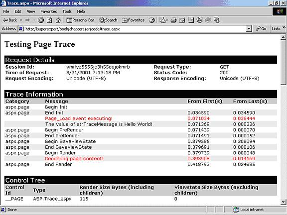 difference between debug.write and trace.write asp net css